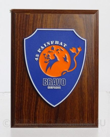 Wandbord 45 painfbat  BRAVO compagnie - 15 x 21 cm - origineel