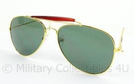 US Pilot model zonnebril - grijs/groene glazen - origineel