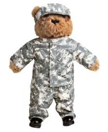 Teddybeer groot 54cm - met ACU camo uniform