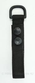 Defensie SPE koppel lus extra lang zwart (of 2 losse lussen- 16,5 x 2,5 x 1,5 cm - origineel