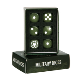 Militaire dobbelstenen set (6 stuks) - Allied Star