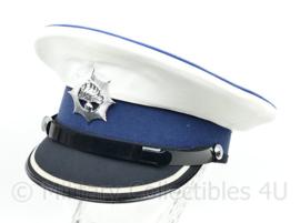 Korps Rijkspolitie platte pet hogere rang met wit overtrek - maat 57,5 - nieuw - origineel