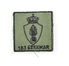 KMAR Koninklijke Marechaussee 103 ESKKMAR 103 Eskadron borstembleem - met klittenband - 5 x 5 cm - origineel