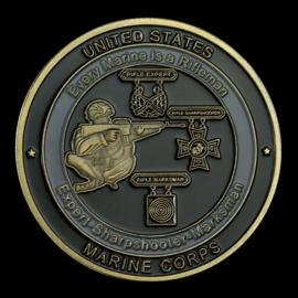 US Marine Corps Every Marine is a Rifleman Expert-Sharpshooter-Marksman coin - 40 mm diameter