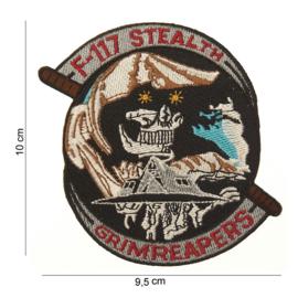 Embleem stof F-117 Stealth Grimreapers - 10 x 9,5 cm