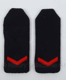 """KM Koninklijke Marine schouder epauletten met rang """"matroos der 2de klasse"""" - afmeting 5 x 14 cm - origineel"""