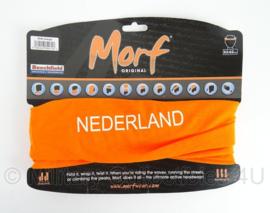 """Multifunctioneel Morf hoofddeksel - oranje MET TEKST """"nederland""""- origineel"""