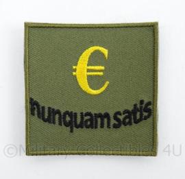 KLu Luchtmacht borst embleem Nunquam Satis Vliegbasis Soesterberg - met klittenband - afmeting 5 x 5 cm - origineel