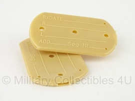 US Army dogtag silencers / hoesjes, per set - origineel