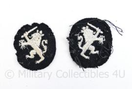 Nederlandse Douane jaren 50 mouw embleem  paar  - 4,5 x 4 cm - origineel
