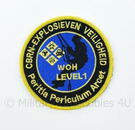 KL Nederlandse leger CBRN Explosieven Veiligheid Level 1 embleem - met klittenband - diameter 9 cm