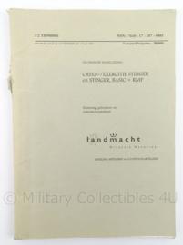 KL Landmacht Technische Handleiding TH900006 - oefen exercitie stinger basic + RMP - 1994 - afmeting 30 x 21 cm - origineel