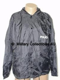 Politie Donkerblauwe  regenjas met voering & capuchon- POLICE - maat Large - origineel!