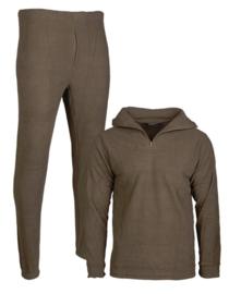 Thermo Fleece ondergoed - met rits en kraag