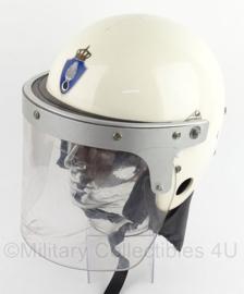 Koninklijke Marechaussee Mobiele eenheid helm - WIT - maat 56/58 - origineel