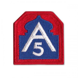 WO2 US 5th Army embleem - 5 x 7,5 cm - origineel naoorlogs