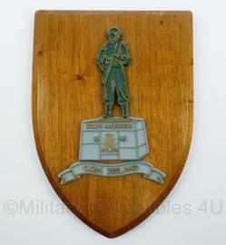 Korps Mariniers wandbord - C.O.M. Zeeland - afmeting 20 x 14 x 1,5 cm - origineel
