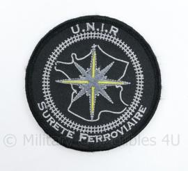Franse UNIR Surette Ferroviaire embleem - met klittenband - diameter 8,5 cm - origineel