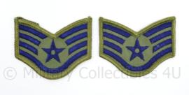 USAF US Air Force rang embleem paar  - Staff Sergeant - 7 x 6 cm - origineel