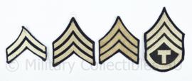 Wo2 US Army set van enkele rangstrepen - set van 4 verschillende stuks  - origineel