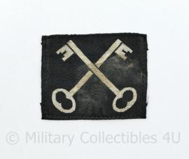Ww2 British 2nd Infantry Division patch embleem - 5,5 x 4,5 cm - origineel