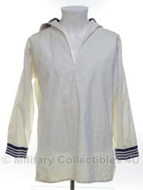 Koninklijke Marine Matrozen hemd WIT Baaienhemd - 50/60'er jaren - maat Small - origineel
