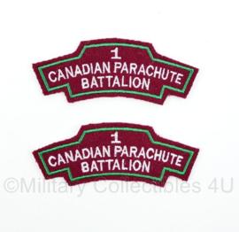 WO2 1st 1 Canadian Parachute Battalion straatnamen set - 10,5 x 3,3 cm