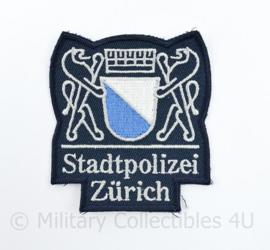 Zwitserse Stadtpolizei Zurich embleem - 7,5 x 8,5 cm - origineel