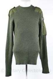 Korps Mariniers wollen trui met straatnaam groen 2003 - maat 6 = Extra Large - origineel