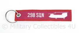 KLu Luchtmacht Sleutelhanger 298 Squadron Remove Before Flight - 16 x 3 cm - origineel