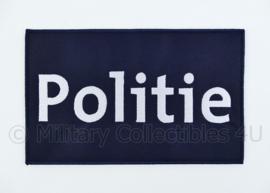 Belgische Politie rugstrook embleem blauw - met klittenband - 24,5 x 15 cm