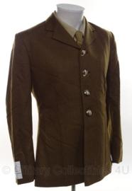 Britse leger uniform jas bruin/groen voorbeeld jas pasvorm - size 164-104-88- origineel