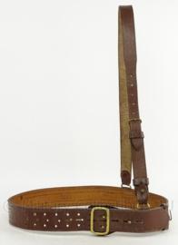 MVO koppel met schouderriem - lijkt op WO2 US en Brits Sam Brown model - 100 cm - origineel