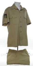 Koninklijke Marine Korps mariniers khaki overhemd en broek set - maat 39 - origineel