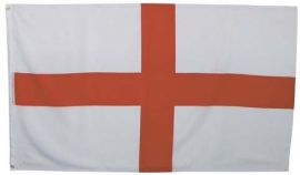 Engelse vlag - wit met rood kruis model - 90 x 150 cm.