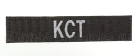 Naamlint 'KCT' Korps Commandotroepen met klittenband Groen - nieuw gemaakt