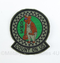 USAF US Air Force OMS Count On Us Patch - origineel