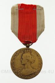 """Belgische medaille """"nationaal comite voor hulp en voeding"""" -  1914/1918 - 8 x 4 cm - origineel"""