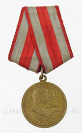 Russische medaille - 30 Years of the Soviet Army and Navy 1918-1948 - origineel