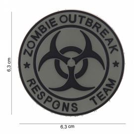 Embleem Zombie Outbreak Respons Team - Klittenband - 3D PVC - 6,3 x 6,3 cm.