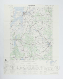 USA Defence mapping agency stafkaart Poland Pelczyce M753 2324II - 1 : 50.000 - 74 x 58 cm - origineel
