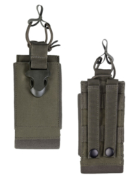 Radio pouch opbouwtas - MOLLE draagsysteem - 6,8 x 3 x 15,3 cm - GROEN