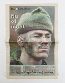 BN de Stem zestig jarig bestaan Commandotroepen special 2002 - origineel