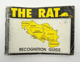 Britse leger joegoslavië The Rat Recognition Guide Intelligence Corps - afmeting 16 x 11 cm - origineel