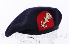 Korps Mariniers moderne baret met stoffen rand - Hassing BV - maat Medium - origineel