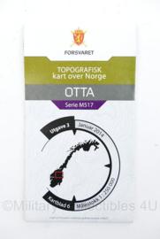 Noorse leger stafkaart OTTA kartblad 6 Otta Serie M517 -23x12  cm - origineel