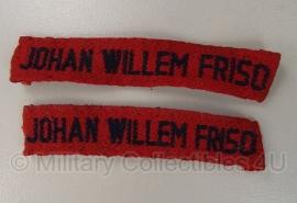 Straatnaam set Nederlandse leger - Johan Willem Friso - origineel