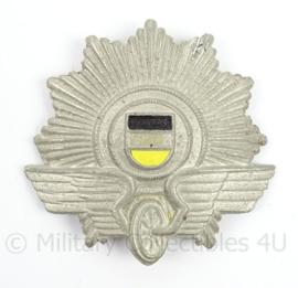 Duitse Bundespolizei Polizei Tschako Reichsbahn insigne - groot - alluminium - afmeting 9 x 9 cm - origineel