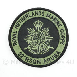 Korps Mariniers Royal Netherlands Marine Corps 32 RSQN Aruba embleem - met klittenband - diameter 9 cm