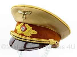 NSDAP Schirmmütze für Politische Leiter der Ortsgruppenleitung replica -  gele bies - maat 58 tm. 60